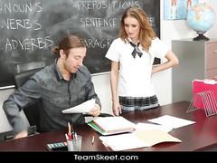 High school student chick loves teacher's tight dick