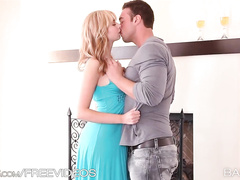 Sweetie blonde is melting from passionate fuck pleasure