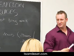 Hardcore fuck with sexy teacher in the classroom