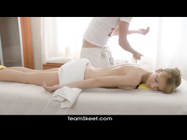 Massage excited the blonde and she decided to get fucked