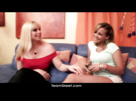 Young sweetie chick got seduced by lesbian girlfriend
