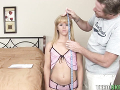 Petite blonde present arived by mail for hot satsfaction