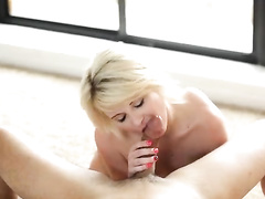 Slutty chick loves to swallow and deepthroating tight cock