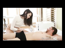 Naughty brunette chick oral and vaginal pleasure