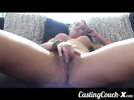 Shaved girl pussy masturbation and fuck