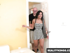 Precious Latina chick Bree Bubbles got hooked and fucked hard by a stranger