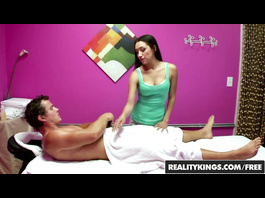 Exciting hot Asian masseuse Vicki Chase enjoys oral sex in 69 pose