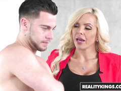 Hot young blonde Naomi Woods caught her boyfriend fucking busty milf