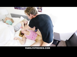 Dirty dude with dick loves fucking hard his stepdaughter whiles wife is sleeping