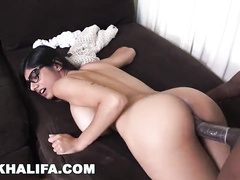 Busty Arab girl Mia Khalifa enjoys interracial hardcore fuck with big black cock