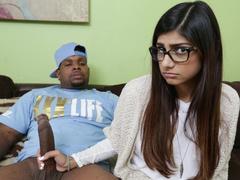 Wonderful Muslim chick Mia Khalifa fondles big black cock and enjoys interracial fuck