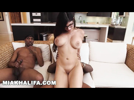 Stunning hot Muslim girl Mia Khalifa is getting pounded by two big black cocks