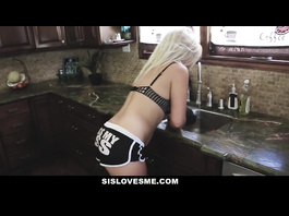 Sporty shaped young blonde blowjobs big dick wearing eye patches