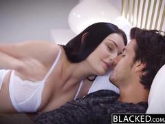 Hot and sexy Amanda Lane deepthroats big black cock and enjoys interracial fuck