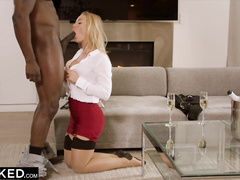 Hot blonde chick Nicole Aniston loves rough interracial mmf threesome sex