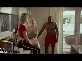 Strong black guy licks wife's sexy hot sister and pleases her with interracial fuck