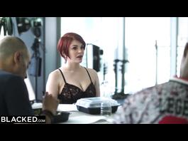 Awesome redhead Bree Daniels enjoys passionate interracial hardcore fuck