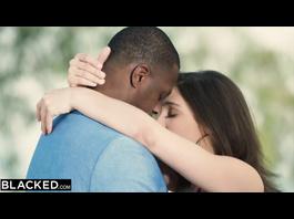 Stunning hot brunette white girl Abella Danger got passionately fucked by black dude