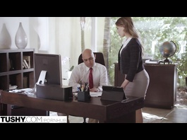 Impressive sexy hot blonde secretary gets unsparingly fucked in the asshole by boss