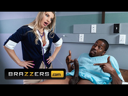 Wonderful hot blonde Ashley Fires enjoys interracial hardcore fuck with her patient