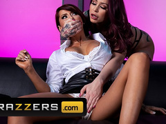 Amazing hot tattooed Madison Ivy gets licked and fingered by lesbian Monique Alexander