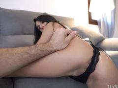 Brunette Young Girl Sucking Riding Big Dick - Belly Cumshot