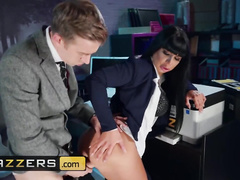 Slutty office milf girl Valentina Ricci tightly erects big dick with deepthroat blowjob