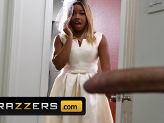 Black blonde bride Nina Rivera is getting fucked in the ass on her wedding day